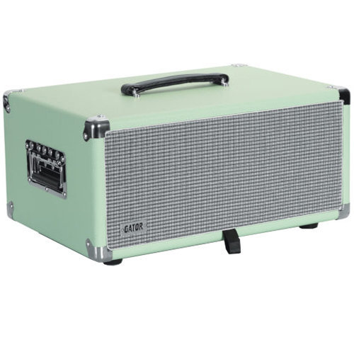 View larger image of Gator Retro Rack Vintage Amp Vibe Rack Case - 4U, Seafoam Green