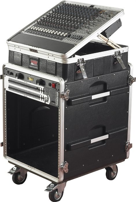 View larger image of Gator Side Console Audio Rack with Casters - 10U Top/12U Bottom