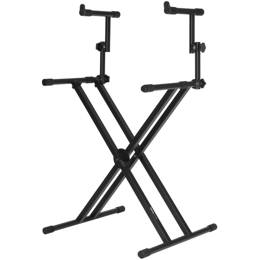 View larger image of Gator Two-Tier X Style Keyboard Stand - Black