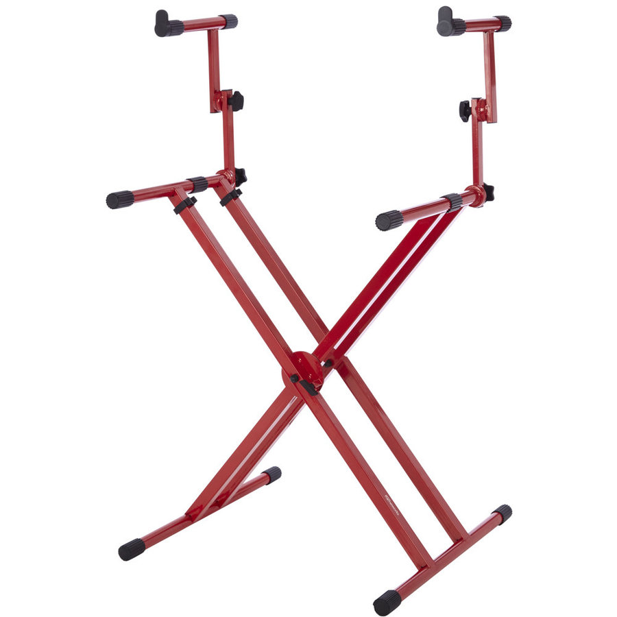 View larger image of Gator Two-Tier X Style Keyboard Stand - Red