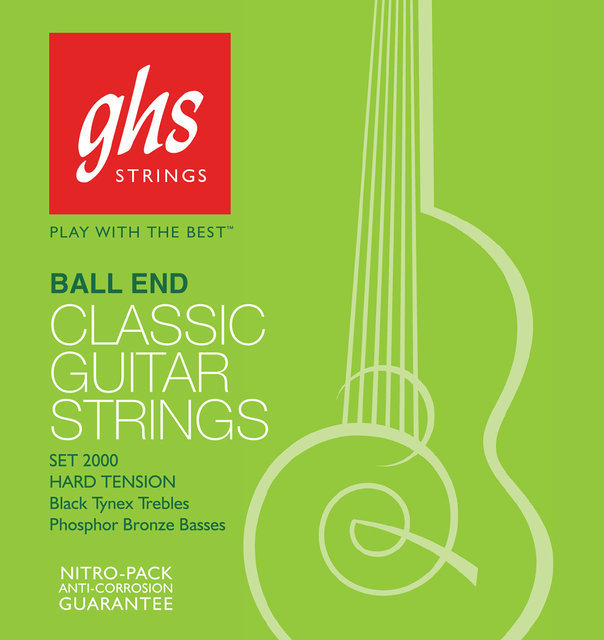 View larger image of GHS 2050W Regular Classics Silvered Copper Ball End Classical Guitar Strings - High Tension