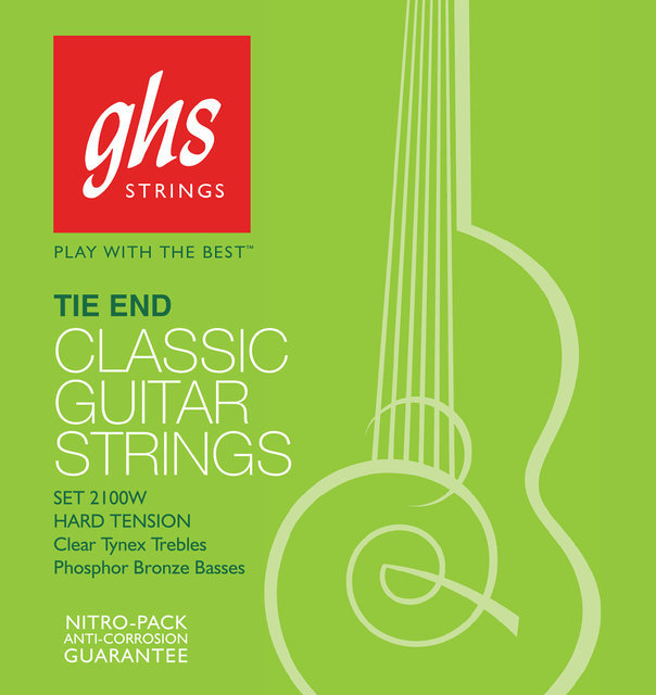 View larger image of GHS 2150W Regular Classics Silvered Copper Tie End Classical Guitar Strings - High Tension
