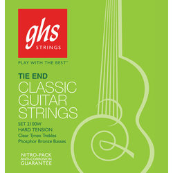 GHS 2150W Regular Classics Silvered Copper Tie End Classical Guitar Strings - High Tension