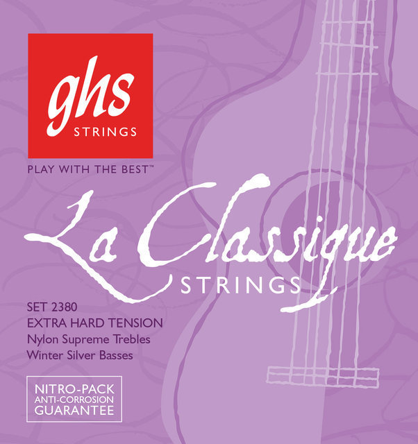 View larger image of GHS 2380 La Classique Nylon Supreme and Winter Silver Classical Guitar Strings - Super High Tension 29-46