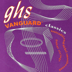 GHS 2510 Vanguard Classics Pure Nickel Classical Guitar Strings - High Tension 29-40, Wound 3rd
