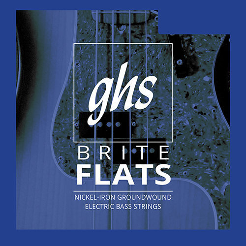 View larger image of GHS 3070 Brite Flats Ground Roundwound Alloy 52 Bass Guitar Strings - Regular 49-108, Short Scale
