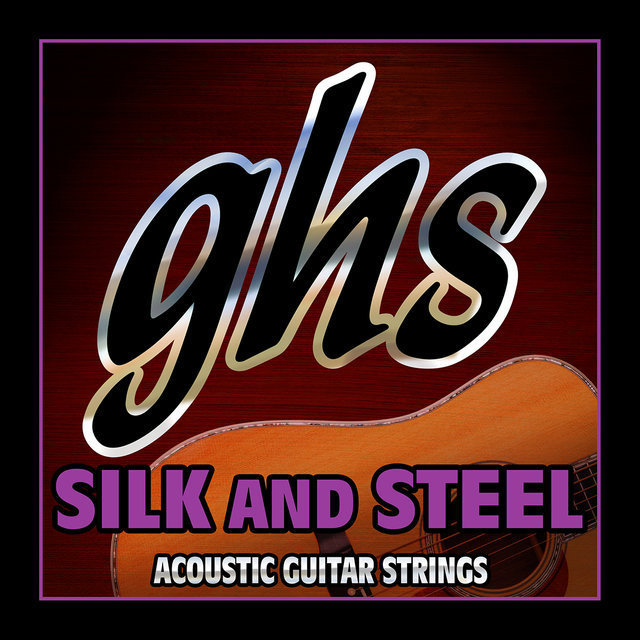View larger image of GHS 350 Silk and Steel Silver-Plated Copper Acoustic Guitar Strings - Medium 11-48