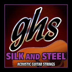 GHS 350 Silk and Steel Silver-Plated Copper Acoustic Guitar Strings - Medium 11-48