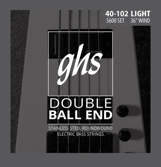 View larger image of GHS 5600 Double Ball End Roundwound Stainless Steel Bass Guitar Strings - Light 40-102