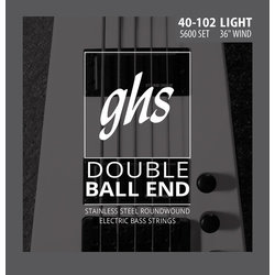 GHS 5600 Double Ball End Roundwound Stainless Steel Bass Guitar Strings - Light 40-102