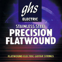 GHS 750 Precision Flats Flatwound Stainless Stainless Steel Electric Guitar Strings - Extra Light 9-42