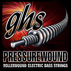 GHS 7700 Pressurewound Flats Alloy 52 Bass Guitar Strings - Light 40-96, Short Scale