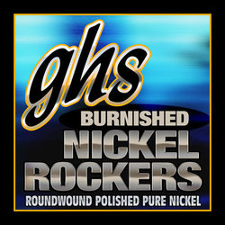 GHS BNRM Burnished Pure Nickel Roundwound Electric Guitar Strings - Medium 11-50