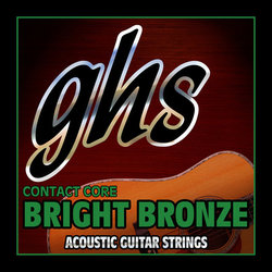 GHS CCBB10 Contact Core Bright Bronze Acoustic Guitar Strings - Ultra Light 10-46