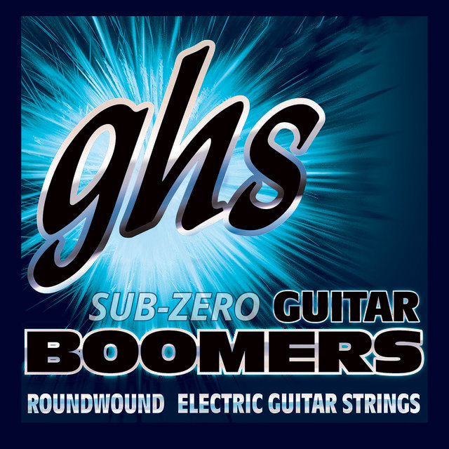 View larger image of GHS CRGBL Sub-Zero Boomers Roundwound Electric Guitar Strings - Light 10-46