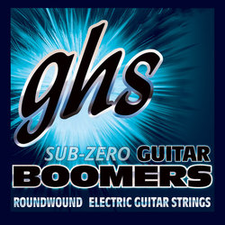 GHS CRGBUL Sub-Zero Boomers Roundwound Electric Guitar Strings - Ultra Light 8-38