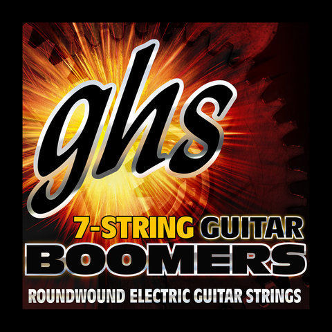 View larger image of GHS GB7L Boomers Roundwound Nickel-Plated Steel 7-String Electric Guitar Strings - Light 9-58