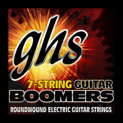 GHS GB7M Boomers Roundwound Nickel-Plated Steel 7-String Electric Guitar Strings - Medium 10-60