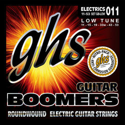 GHS GBLOW Boomers Roundwound Nickel-Plated Steel Low-Tuned Electric Guitar Strings - 11-53