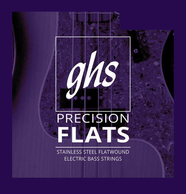 View larger image of GHS M3050 Precision Flats Flatwound Stainless Steel Bass Guitar Strings - Medium 45-105, Long Scale Plus
