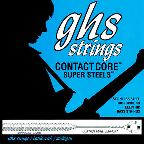 View larger image of GHS M5200 Contact Core Super Steels Bass Guitar Strings - Medium 45-105, Standard Long Scale