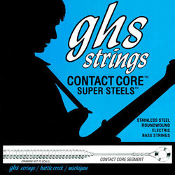 GHS M5200 Contact Core Super Steels Bass Guitar Strings - Medium 45-105, Standard Long Scale