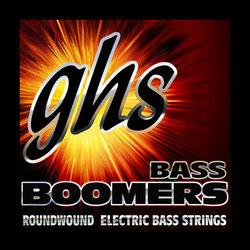 GHS ML3045 Bass Boomers Roundwound Nickel-Plated Steel Bass Guitar Strings - Medium-Light 45-100, Standard Long Scale
