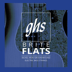 GHS ML3075 Brite Flats Ground Roundwound Alloy 52 Bass Guitar Strings - Medium-Light 52-103, Standard Long Scale