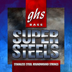 GHS ML5000 Super Steels Roundwound Stainless Steel Bass Guitar Strings - Medium-Light 44-102, Long Scale Plus