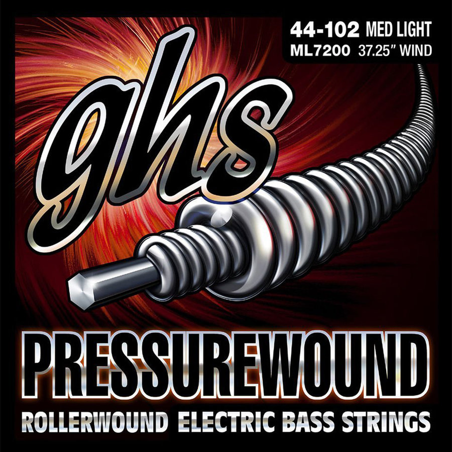 View larger image of GHS ML7200 Pressurewound Flats Alloy 52 Bass Guitar Strings - Medium-Light 44-102, Long Scale Plus