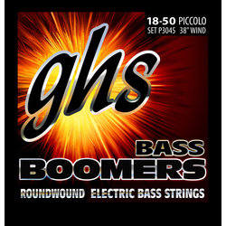 GHS P3045 Boomers Roundwound Nickel-Plated Steel Bass Guitar Strings - Piccolo 18-50, Long Scale Plus
