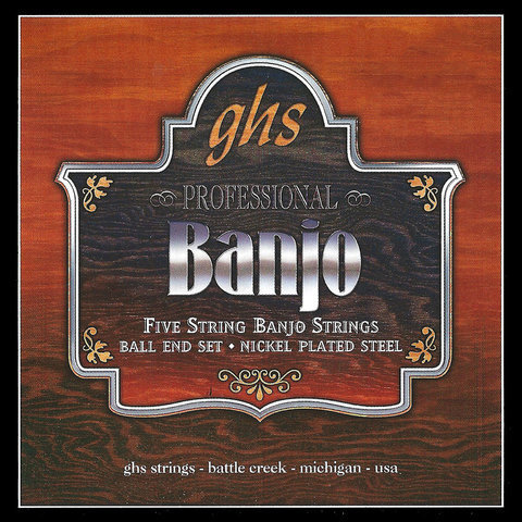 View larger image of GHS PF130 Nickel-Plated Ball End 5-String Banjo Strings - Regular 10-22