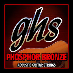 GHS S325 Phosphor Bronze Acoustic Guitar Strings - Light 12-54