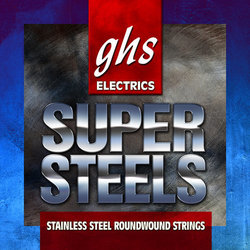 GHS ST-L Super Steels Stainless Steel Roundwound Electric Guitar Strings - Light