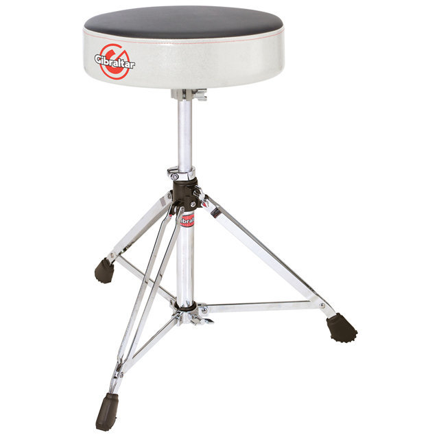 View larger image of Gibraltar 6608RSW Double Braced Round Drum Throne - White Sparkle