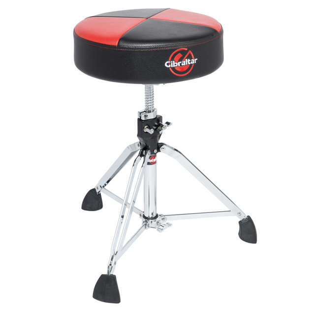 View larger image of Gibraltar 9608RQPRB Professional Double Braced Throne with Super Foot - Red/Black
