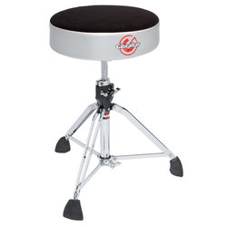 Gibraltar 9608RSG Professional Double Braced Throne with Super Foot - Satin Grey Silver