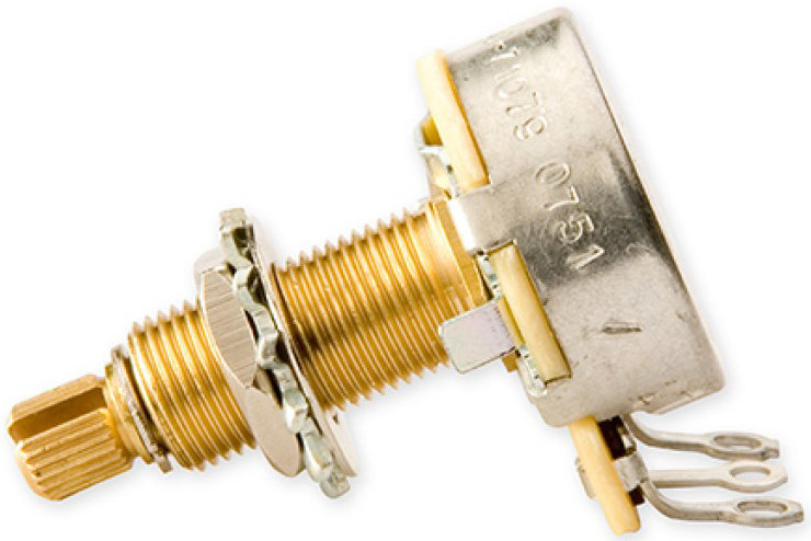 View larger image of Gibson 500k Ohm Audio Taper Potentiometer - Long Shaft