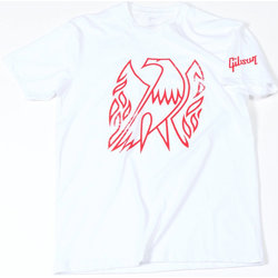 Gibson Firebird T-Shirt - White, XL