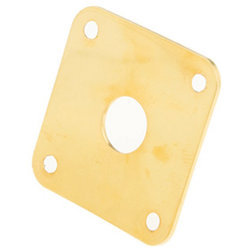 Gibson Metal Jack Plate - Gold