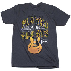 Gibson Played by the Greats T-Shirt - Charcoal, Large