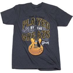 Gibson Played by the Greats T-Shirt - Charcoal, XL
