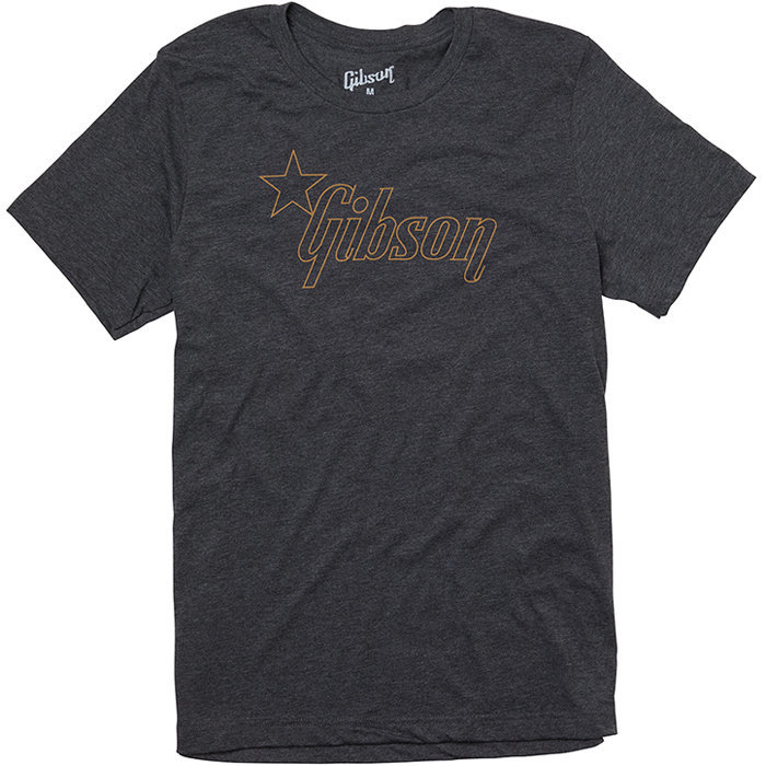 View larger image of Gibson Star Logo T-Shirt - Charcoal, Medium