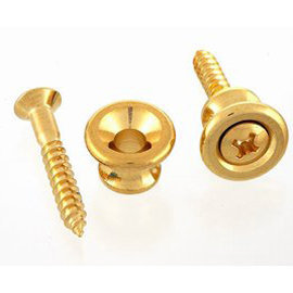 View larger image of Gibson Style Strap Buttons - Gold, Bulk