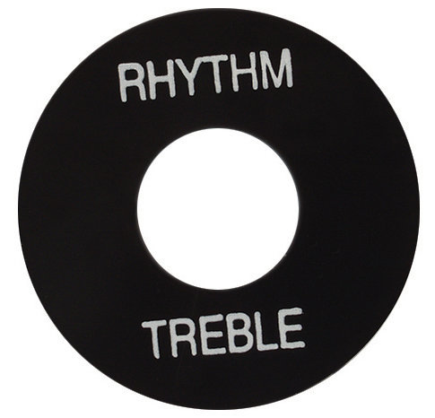 View larger image of Gibson Toggle Switch Washer - Black with White Letters