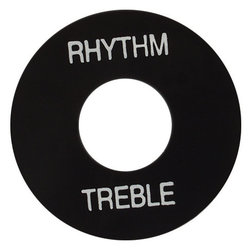 Gibson Toggle Switch Washer - Black with White Letters