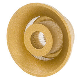 View larger image of Gibson Top Hat Knobs - Gold, 4 Pack