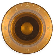 View larger image of Gibson Top Hat Knobs - Vintage Amber, 4 Pack