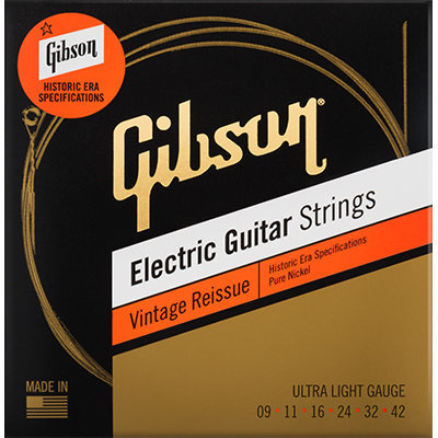 View larger image of Gibson Vintage Reissue Electric Guitar Strings - Ultra Light