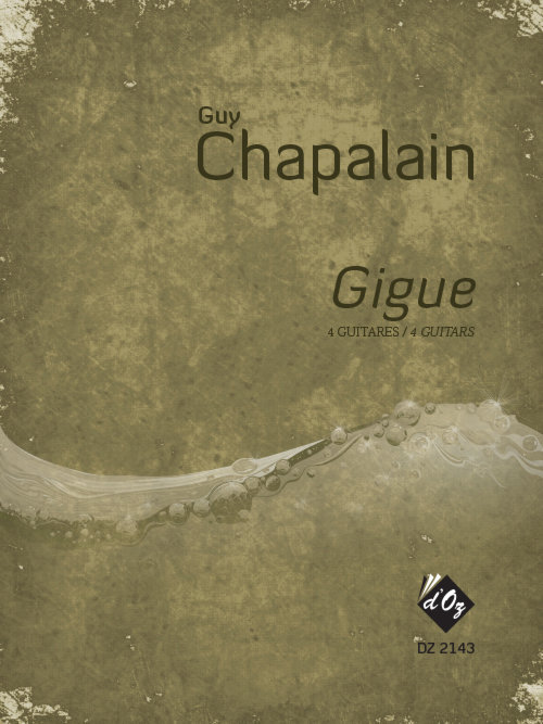 View larger image of Gigue (Chapalain) - Guitar Quartet